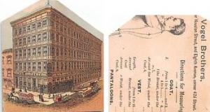Approx Size Inches = 2.25 x 2.75  Tradecard