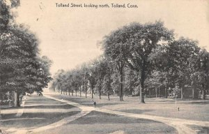 Tolland Connecticut Tolland Street Looking North Vintage Postcard JJ658819