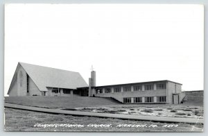 Harlan Iowa~Congregational Church~1960s Real Photo Postcard~RPPC