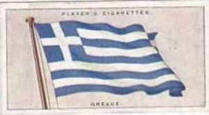 Players Vintage Cigarette Card Flags League Of Nations No 21 Greece  1928
