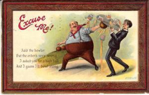 Excuse Me! Bowling Humor 1909