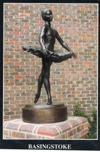 Basingstoke Ballroom Dancer Statue Hampshire 1980s Postcard