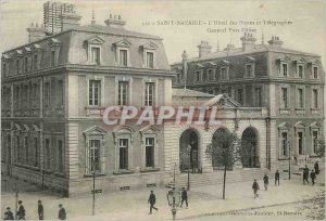 Old Postcard Saint Nazaire Hotel Post and Telegraphs Post Ofice Genetal