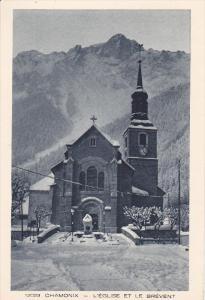 CHAMONIX, Haute Savoie, France; L 'Eglise et le Brevent, 10-20s