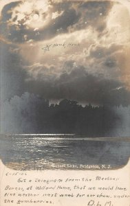 LPN24 Bridgeton New Jersey Sunset Lake Postcard RPPC