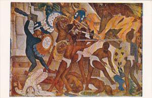 Diego Rivera The Sacred Wars Between Aztecs and Toltecs Palacio Nacional De M...