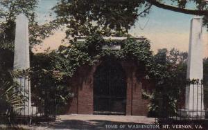 Tomb Of Washington Mount Vernon Virginia 1947
