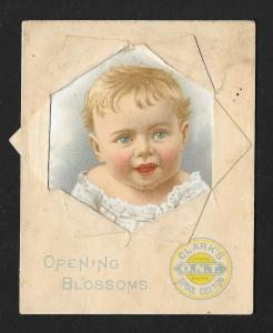 VICTORIAN TRADE CARD Clark's ONT Thread Baby Novelty