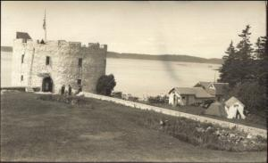 Pemaquid ME Fort 1936 Real Photo Postcard #4