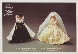 Mary Queen Of Scots Wedding Dress Toy Doll The World Of Peggy Nisbet Postcard