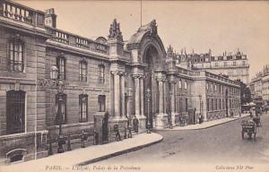 PARIS, France, 1900-1910's; L'Elysee, Palais De La Presidence