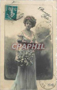 Old Postcard Bonne Fete