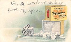 Crystal Domino Sugar Advertising Unused trimmed right edge
