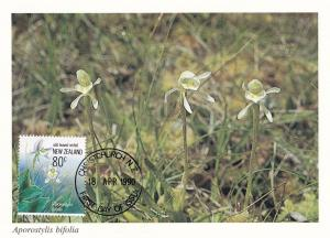 Aporostylsis Bifolia New Zealand Flower Christchurch Postcard First Day Cover