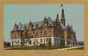 St Louis Missouri~City Hall~Ullman's Gold Border Series~1905 Postcard