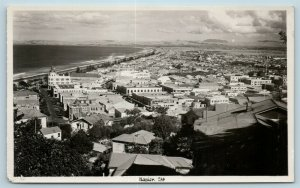 Postcard New Zealand Napier Aerial View of City RPPC c1930s Real Photo AD6