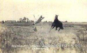 Red Sublett Western Cowboy, Cowgirl Unused
