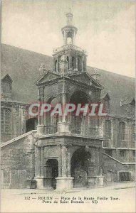 Old Postcard Rouen Place Haute Vieille Tour Porte de Saint Romain