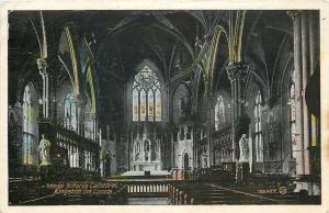 Kingston ON~Interior of St Mary's Cathedral~Catholic Church~Vaulted Ceiling~1928