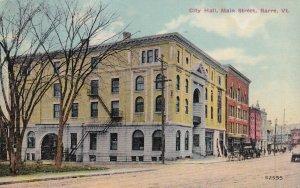 BARRE, Vermont, PU-1912; City Hall, Main Street