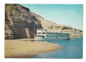 Postcard Egypt Nile Boat Near Small Temple Continental View Card