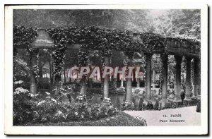 Postcard Old Paris Parc Monceau