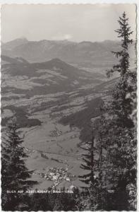 Blick auf WESTENDORF 800m, Tirol, 1958 used Real Photo Postcard