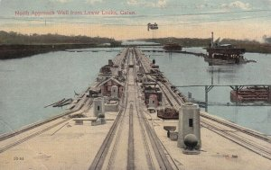 GATUN, Panama, 1900-1910s; North Approach Wall From Lower Locks
