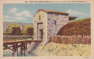 New York Old Fort Niagara Porte Des Cinq National