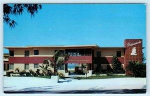 TREASURE ISLAND, Florida FL  Roadside HISPANIOLA APARTMENT HOTEL c1950s Postcard