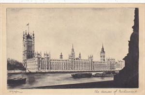 London Houses Of Parliament 1946 Tuck