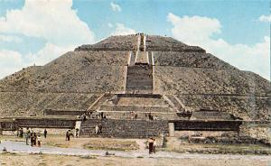 Mexico Old Vintage Antique Post Card The Sun Pyramid Writing on back