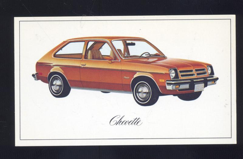 1976 chevrolet chevy chevette vintage car dealer advertising postcard 76 hippostcard 1976 chevrolet chevy chevette vintage
