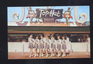 SPOKANE WASHINGTON THE TOP HAT DRIVE-IN RESTAURANT ADVERTISING POSTCARD