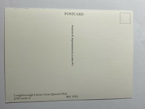 UNUSED PICTURE POSTCARD - LOUGHBOROUGH LIBRARY QUEENS PARK   (KK2274)