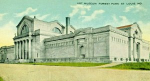Postcard Early View  of Art Museum in Forest Park,  St. Louis, MO.      S1