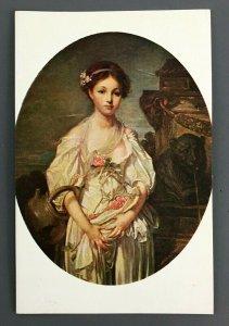 Jean Baptiste Greuze The Broken Pitcher Portrait Art Postcard Louvre Paris