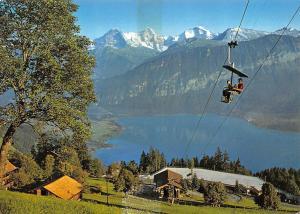 Switzerland Sesselbahn Beatenberg Niederhorn Talstation mit Etagenparkplatz