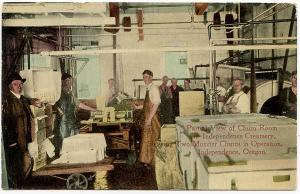 Independence OR Independence Creamery View of Churm Room Postcard
