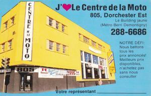 ADV: QUEBEC, Canada, PU-1987; Le Centre De La Moto