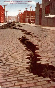 California San Francisco Result In Street After Earthquake and Fire Of 1906