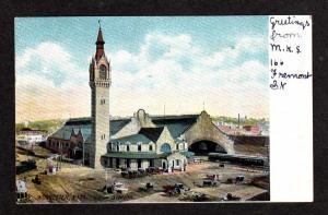 MA Train Depot Station WORCESTER MASSACHUSETTS Postcard