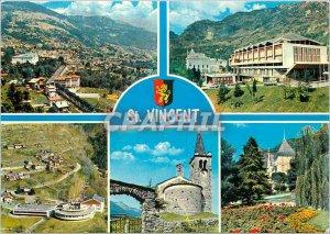 Modern Postcard St Vincent La Riviera delle Alpi Panorama Casino de la Vallee