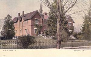Exterior, Public School, Simcoe, Ontario, Canada,PU-1909