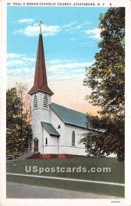 St Paul's Roman Catholic Church Staatsburg NY Unused