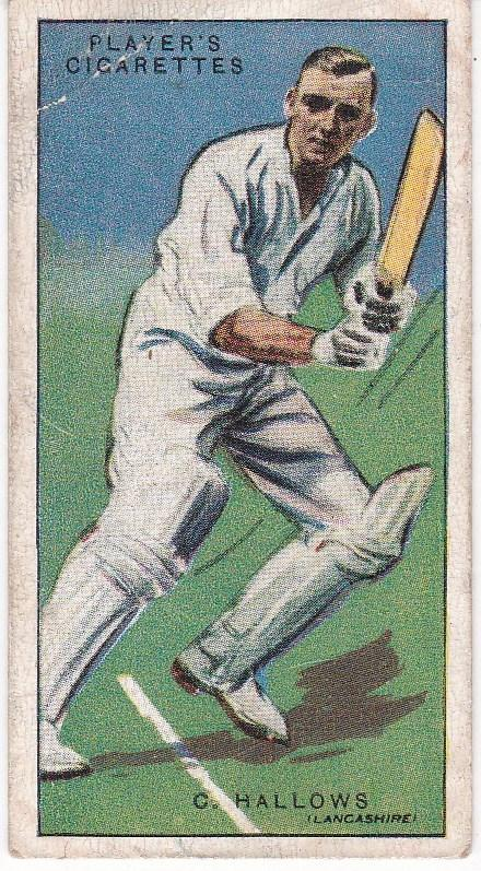 Cigarette Cards Player's Cricketers 1930 No 20 - C Hallows