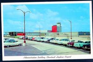 OH Administration Building CLEVELAND HOPKINS AIRPORT with 1950s cars Chrome