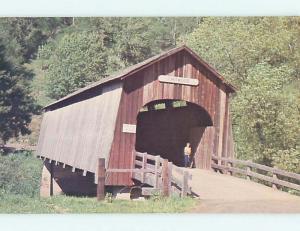 Unused Pre-1980 COVERED BRIDGE Chitwood Oregon OR t7752