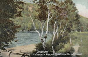 GORHAM, New Hampshire, PU-1910; Androscoggin River & Foot Path from Mechanic St.