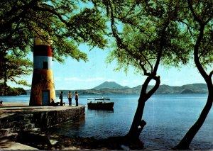 El Salvador Balneario de Apulo Lago de Ilopango Lighthouse